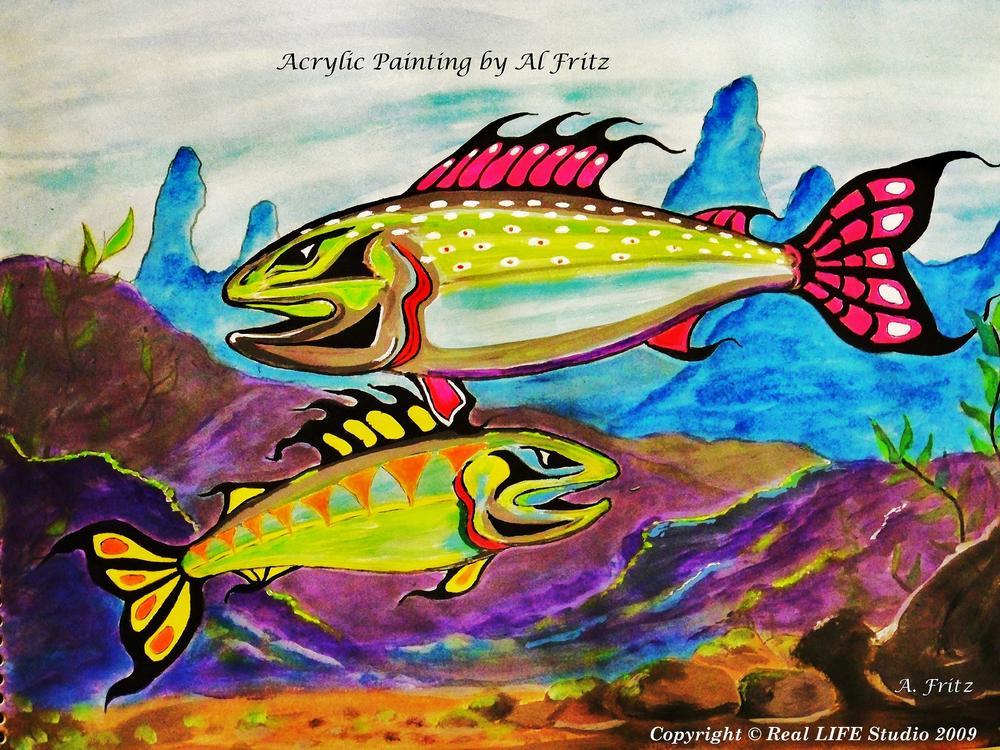 Salmon of Colour... by Allan Fritz