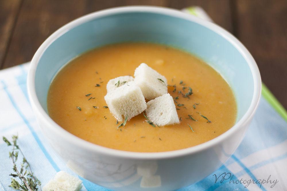 carrot soup, food photography by Vasilena Petkova
