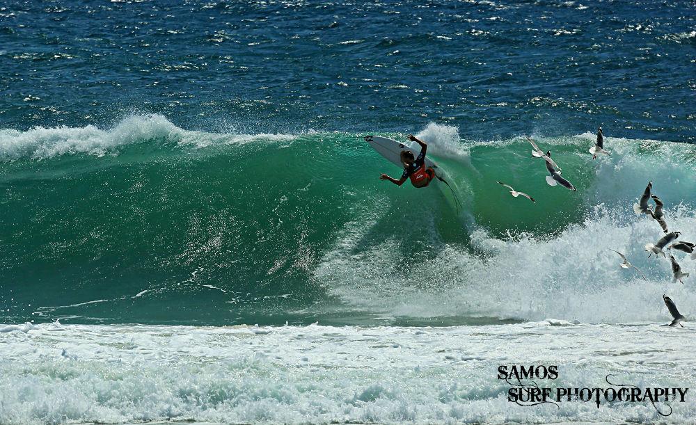 TAJ BURROW FLYING WITH THE BIRDS by Samos Surf Photography