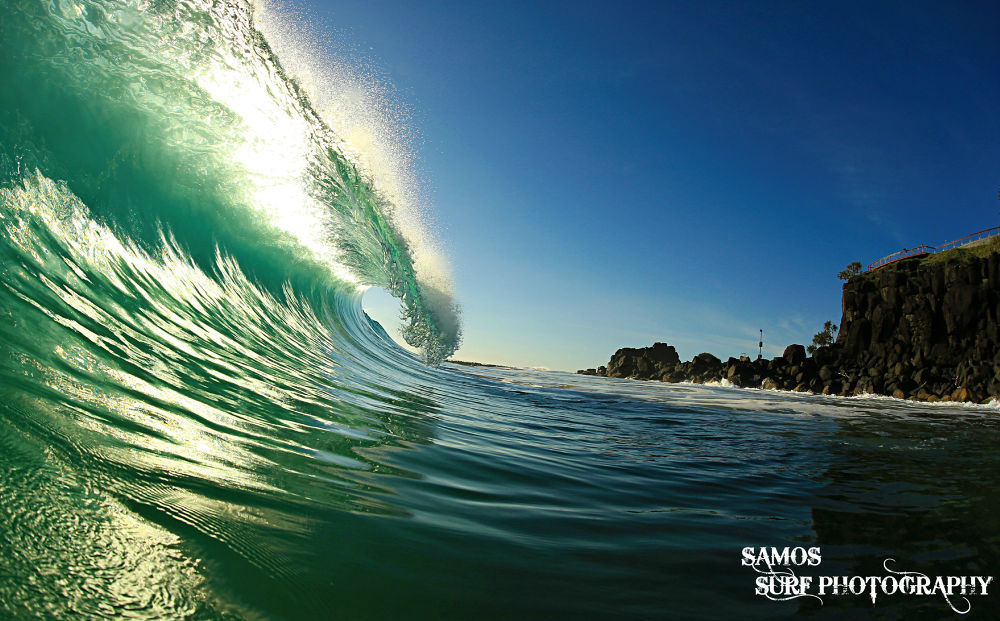illuminated curl by Samos Surf Photography