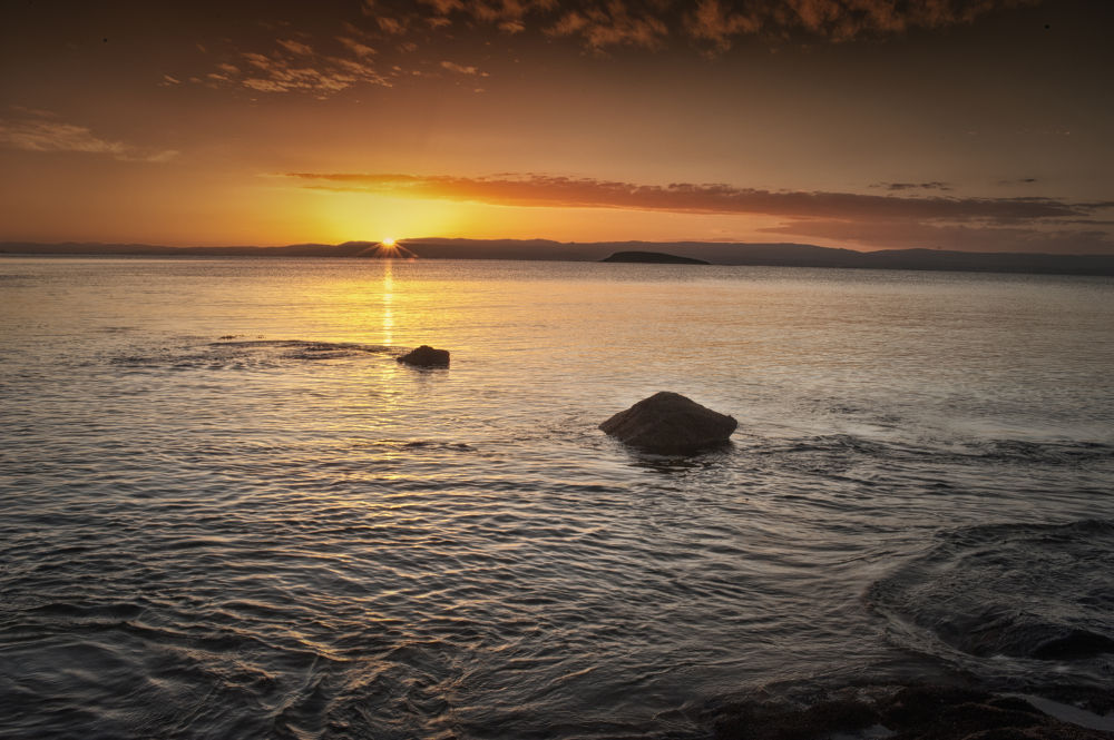 Photo in Landscape #coles bat #tasmania #sunset #water movement #going down #lovely evening #still evening #australia #tasmania australia #seascapes