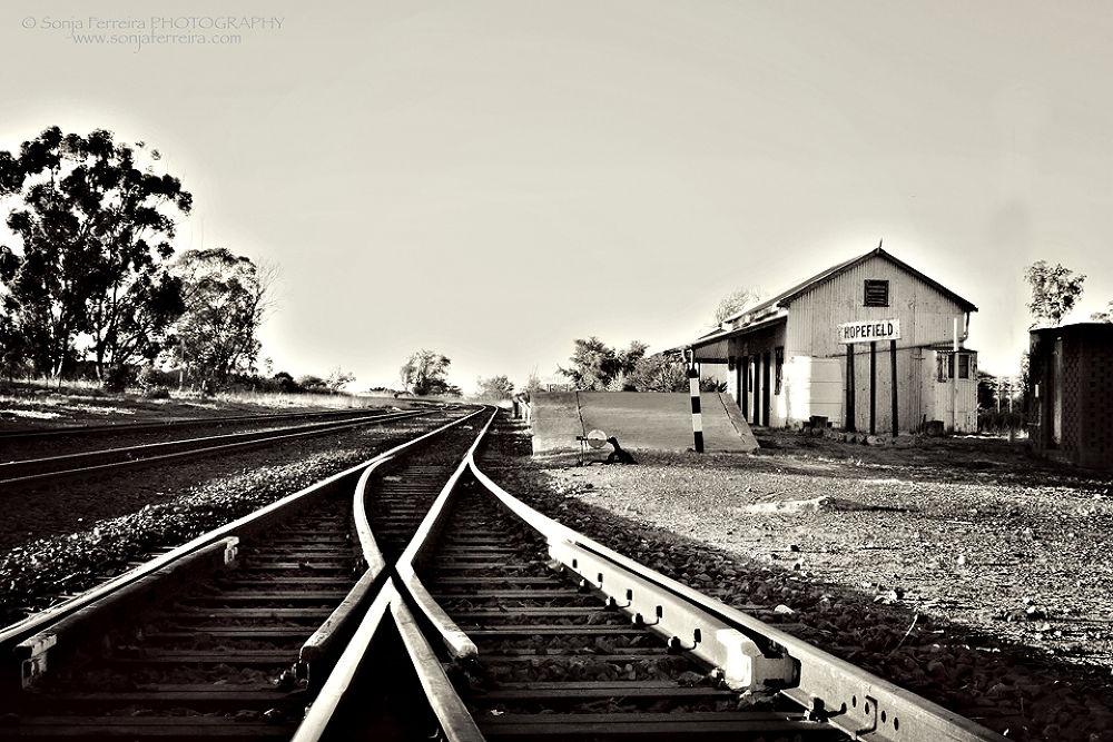 Railway Station - Hopefield South Africa by Sonja Ferreira