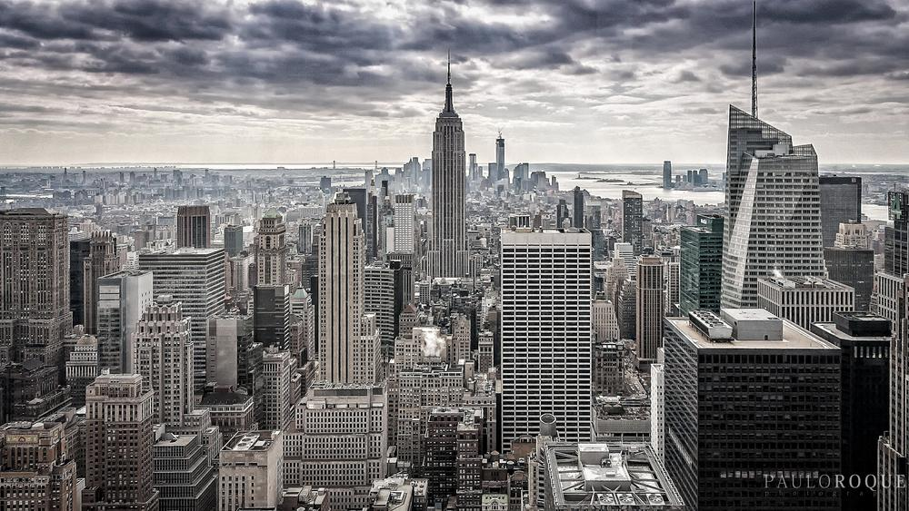 Photo in Cityscape #new york #empire state building #manhattam #clouds #cityscape #usa #high buildings