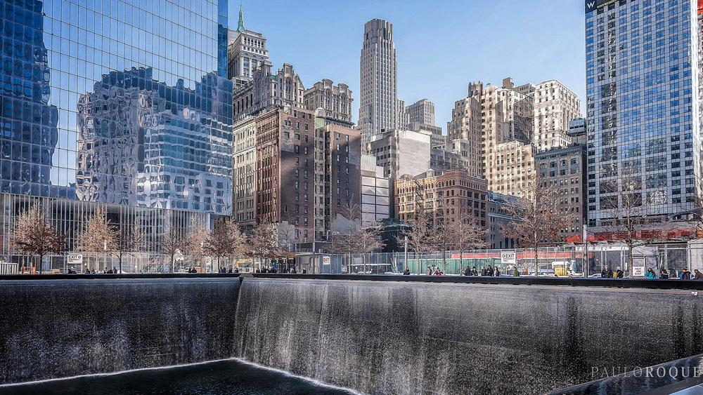 Photo in Cityscape #ground zero #manhattan #new york #reflections #high buildings #america