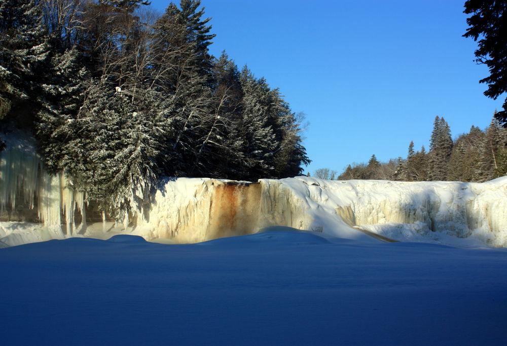 Tahquamenon Falls in winter by Joe LaFata  Photography  Great north Photos