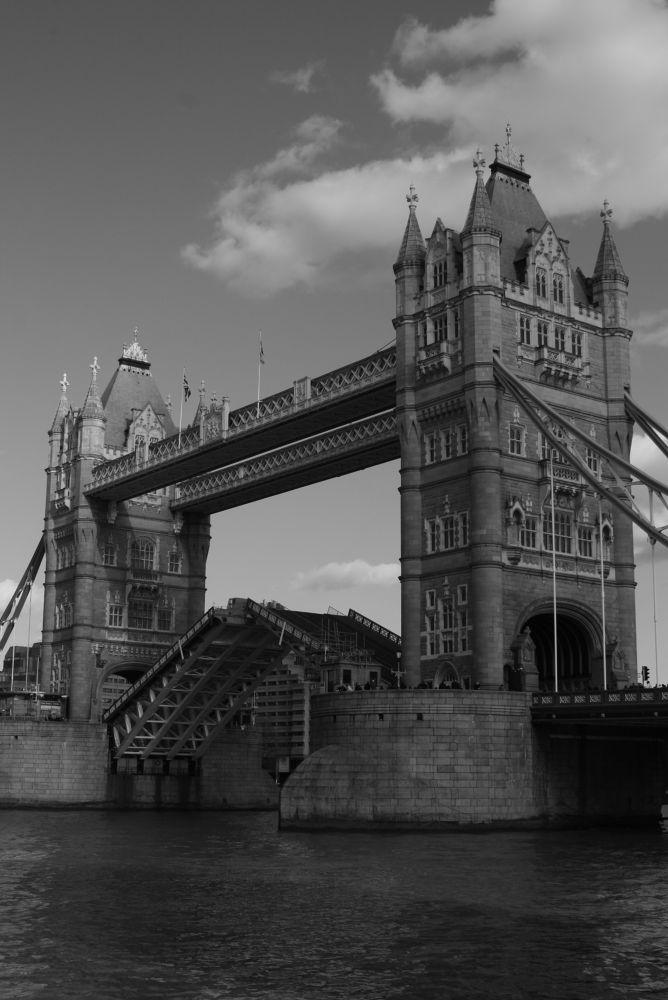 Tower Bridge middle part lifting - rare thing - London by Alin Laurentiu Giga