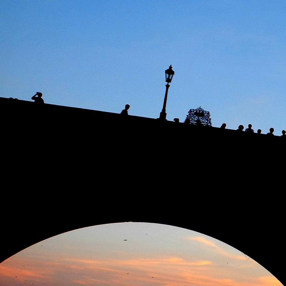 Photo in Fine Art #bridge #people