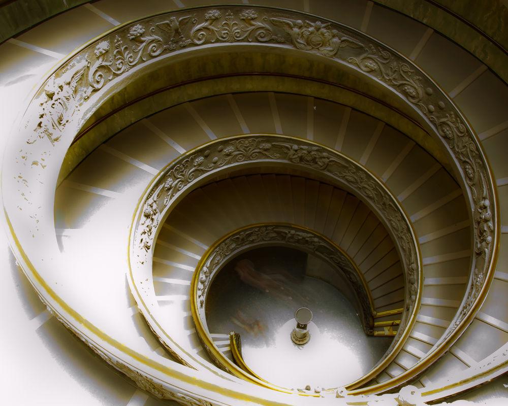 Musei V aticani - Scala 3 by Massimo Crisafi