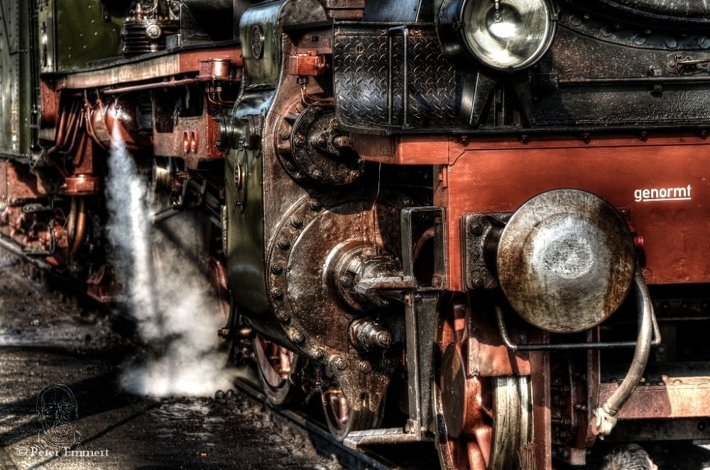 Detail of steam locomotive two by Peter Emmert