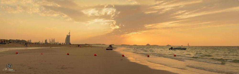 panorama view Jumeirah Beach by Ali Suria