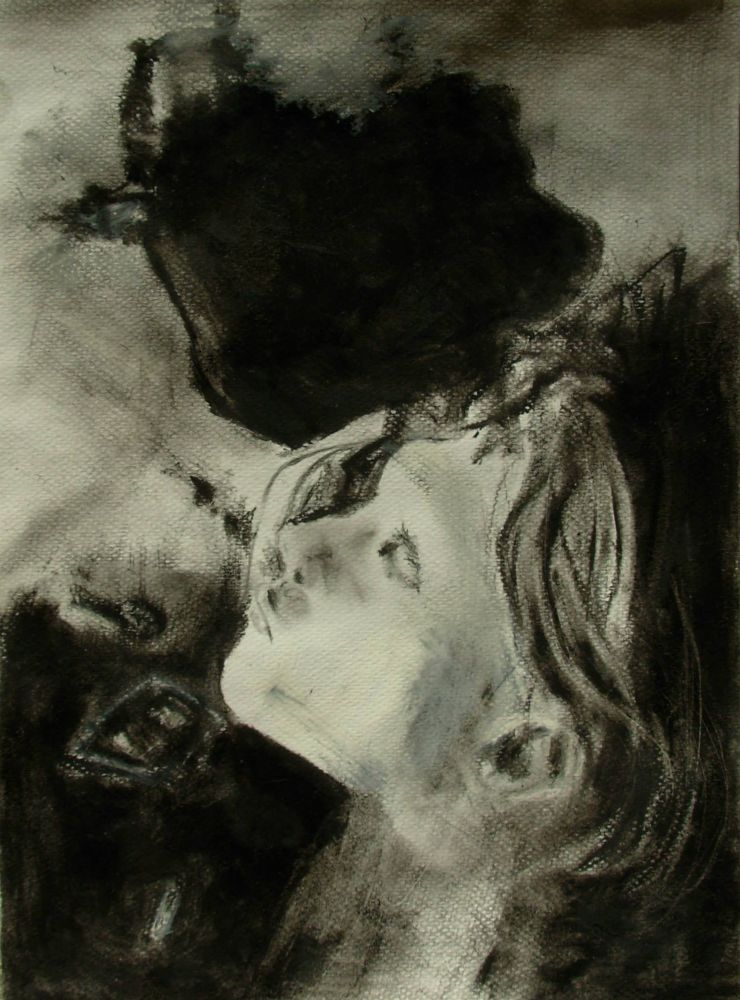 Study after Gottfried Helnwein's painting (pastel, charcoal) by juhasz laszlo