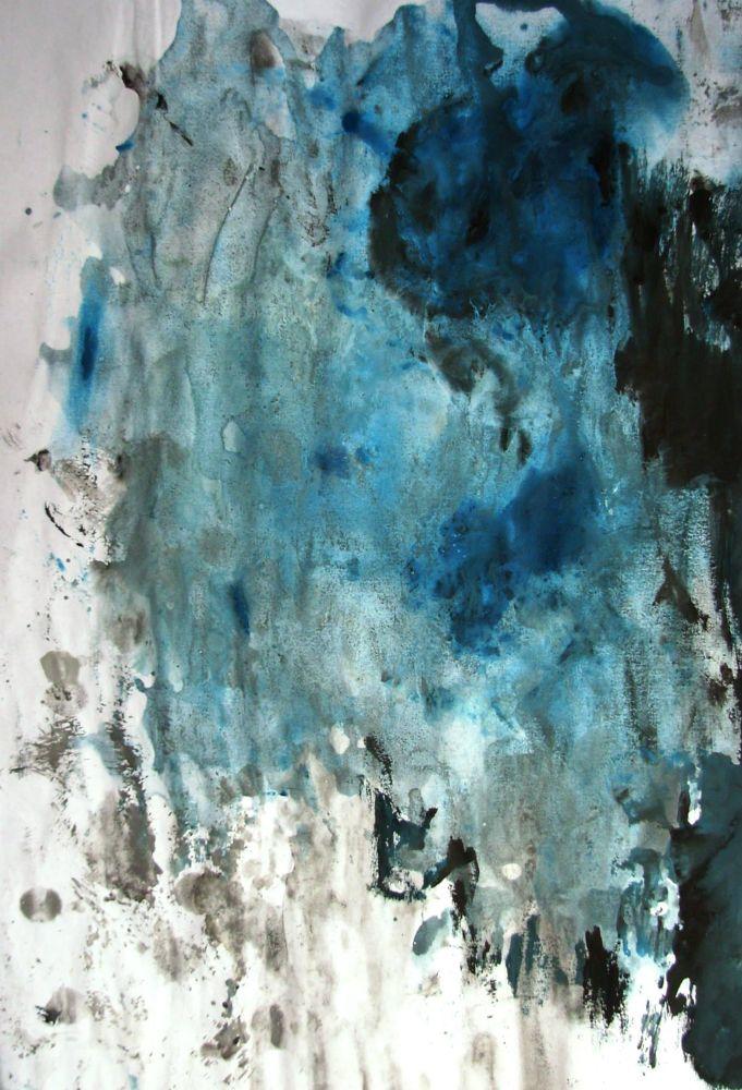 DEEPER THAN BLUE gouache on A4 size paper 2013 Artist: https://www.facebook.com/pages/JL/22928953384 by juhasz laszlo