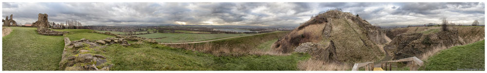 360 panoramic view of Sandal Castle Wakefield by Alan Hawes