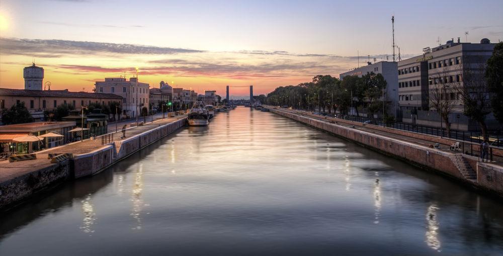 My Home - Sunrise at Fiumicino, Rome by Egidio Distante