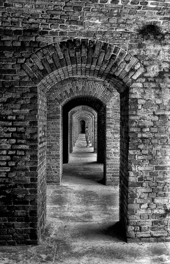 Tunnel At Fort Zachary Taylor by Joe Saladino