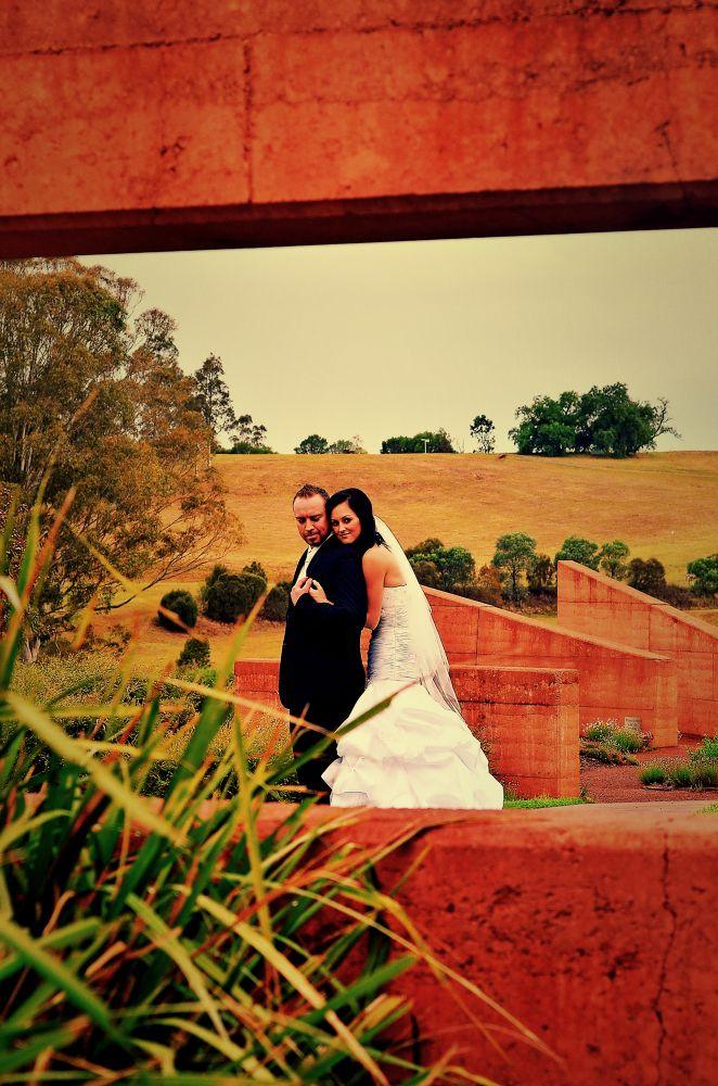 Framed wedding - Campbeltown - by Brad N Sky Thomson