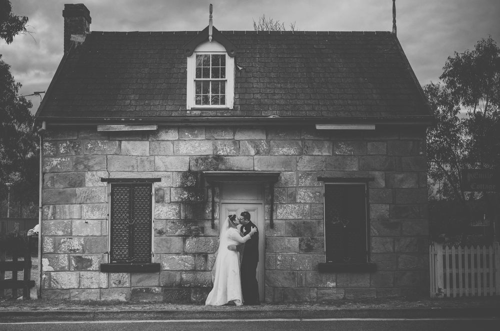 Wedding black and white - Campbelltown - by Brad N Sky Thomson