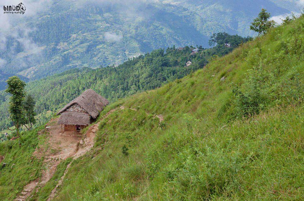 Lonely house by Binod Shakya