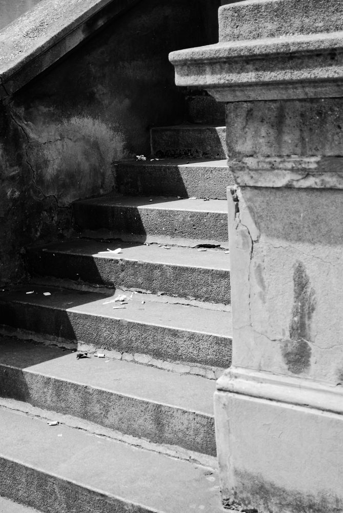 Street stairs by Monique