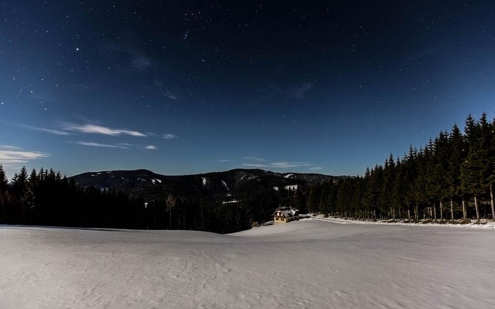idyllic in the moonlight by Martin Kriebernegg