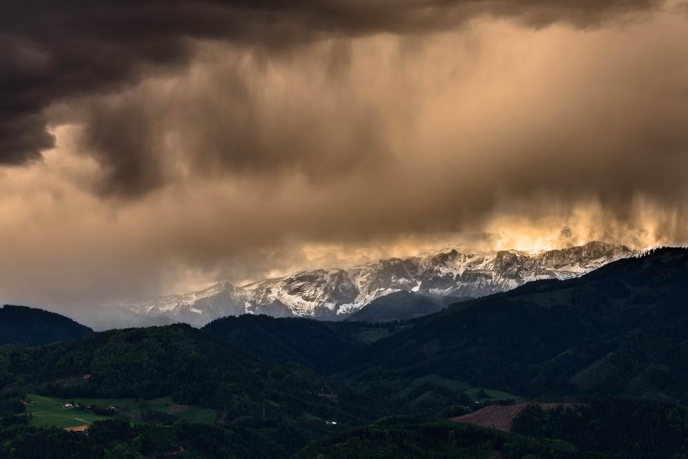 changing weather above Hochschwab by Martin Kriebernegg