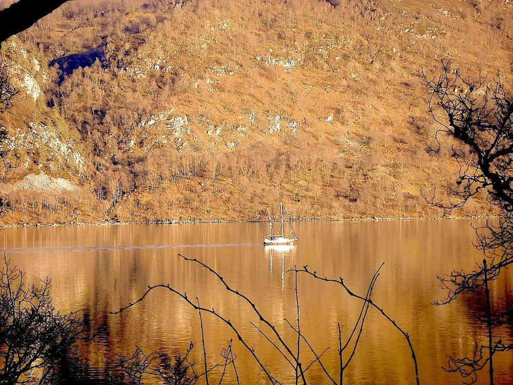 Lock Ness, Highlands Scotland by Beatriz