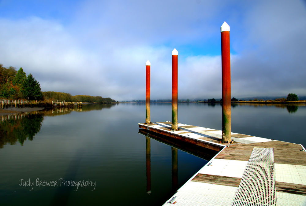 Sitting On The dock by Judy Brewer