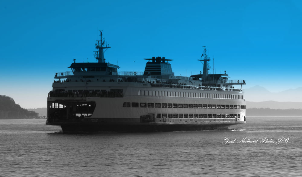 Seattle Ferry by Judy Brewer