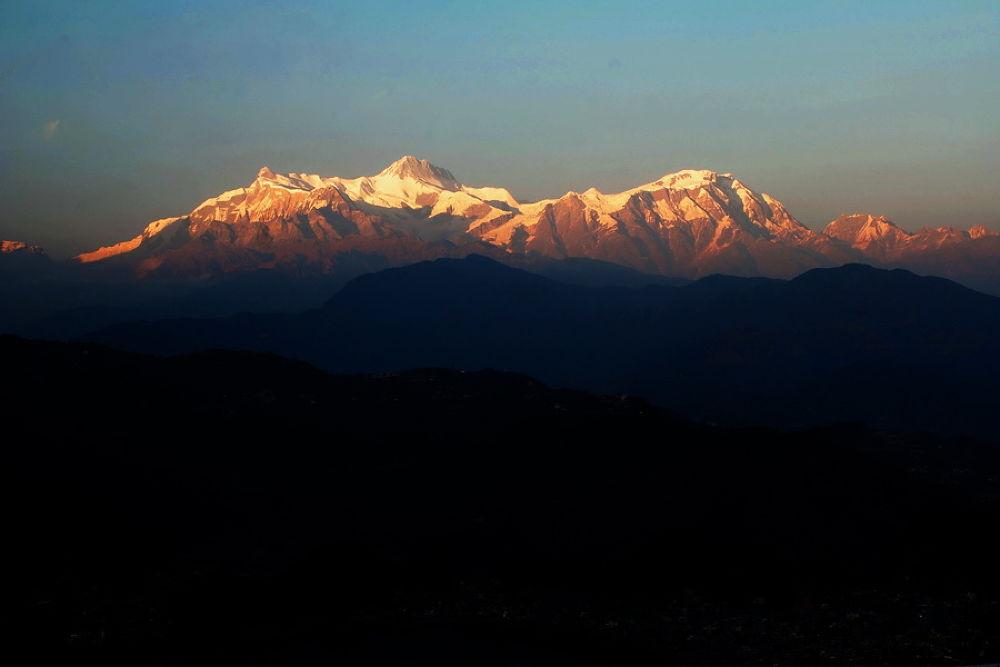 Mt. Annapurna IV(7,525m.) II (7,939 m.) and Lamjung Himal - 6,986 from Pokhara - NEPAL by SanuRajaVajracharya