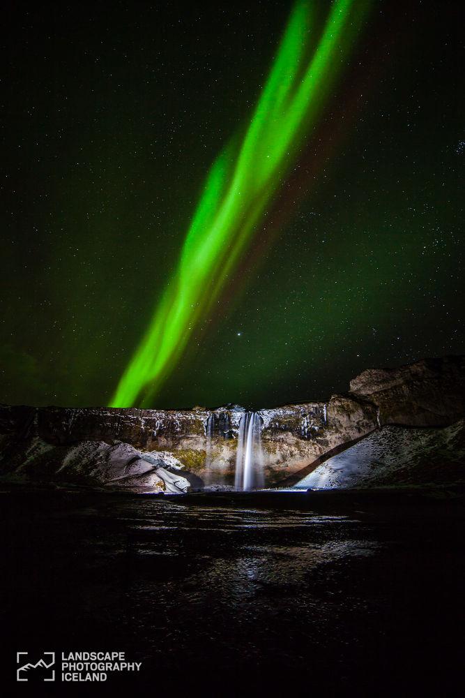 Seljalandsfoss aurora by Páll Jökull photo