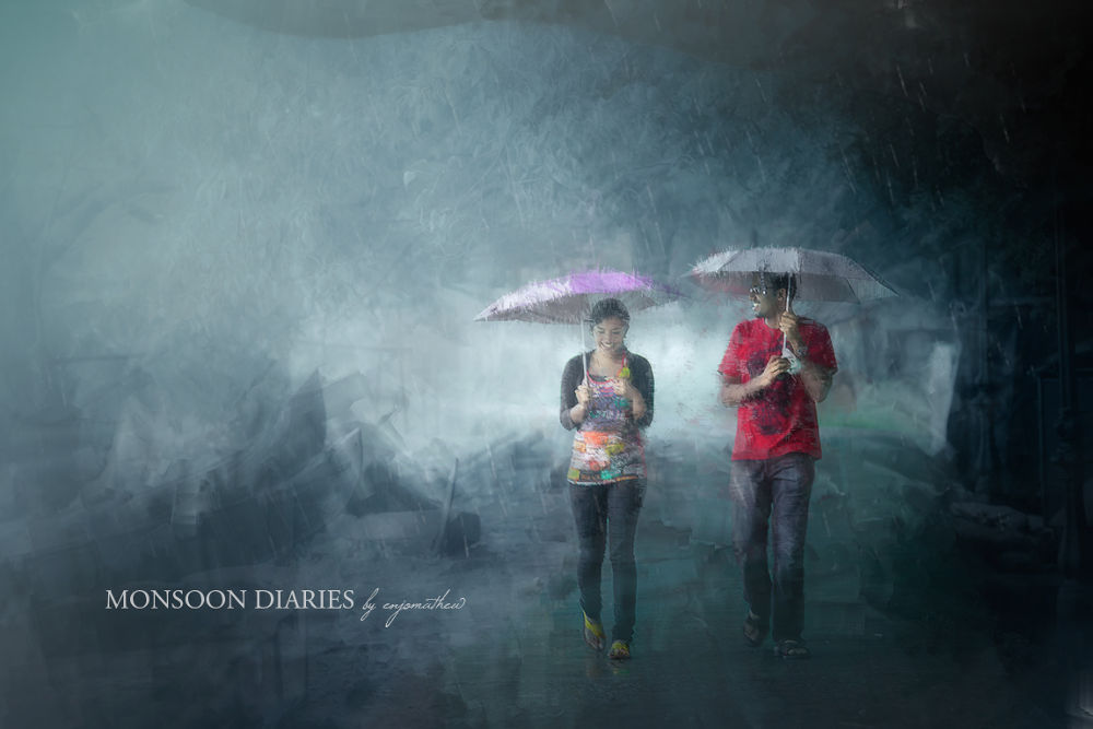 A Little Fall Of Rain Can Kindle Them, Lovers. by Enjo Mathew