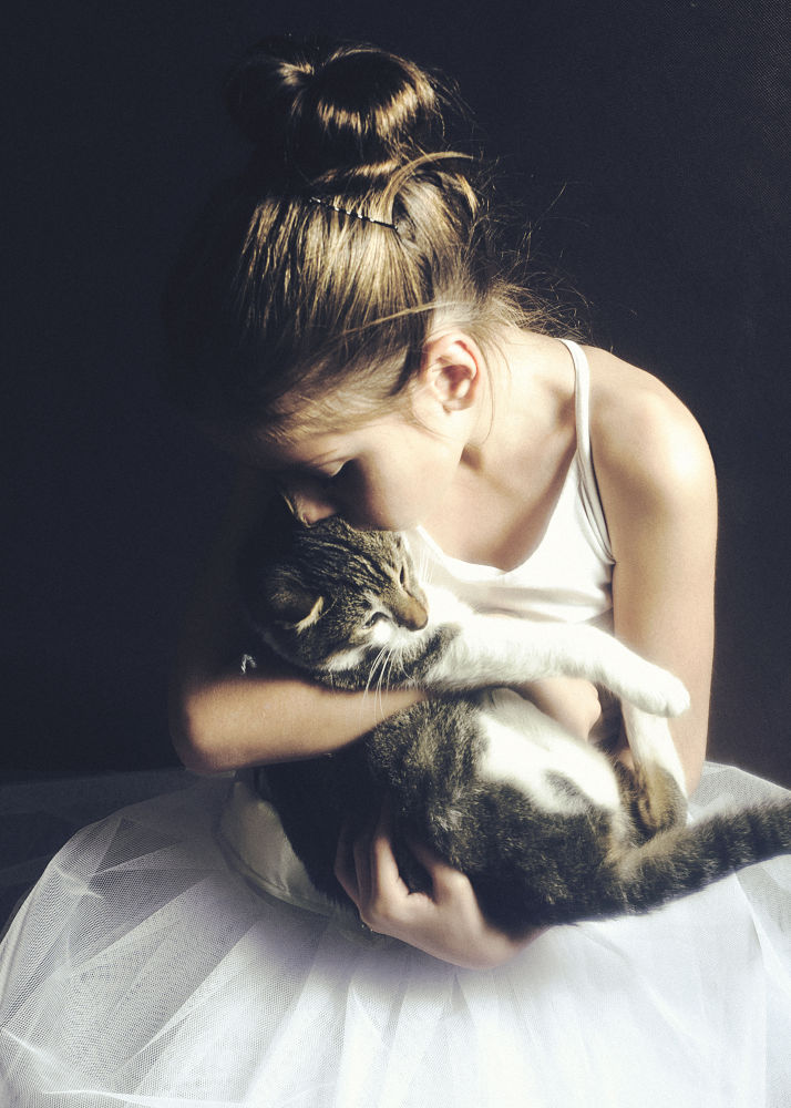 A little cat lady in training :) by olgak