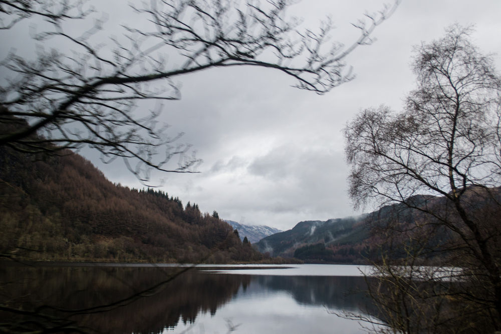 Winter at Scottish Loch by Michelle Macpherson