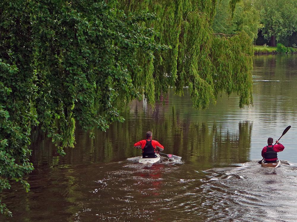 Photo in Random #sport #river #canoe #sporters #trees #nature #waterscape #odijk #holland #netherlands