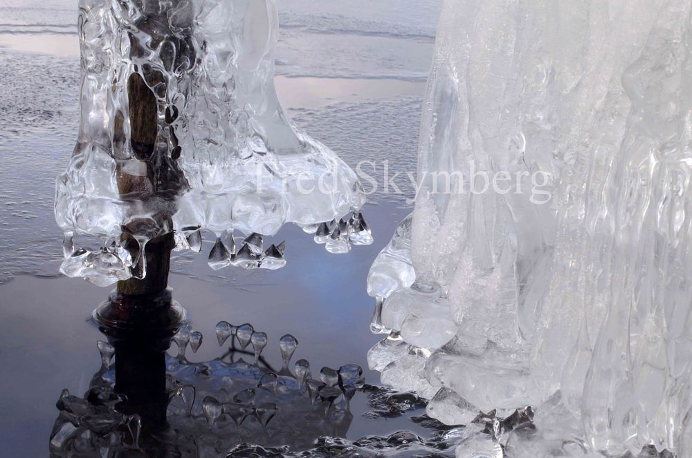 Ice and water by Fred Skymberg