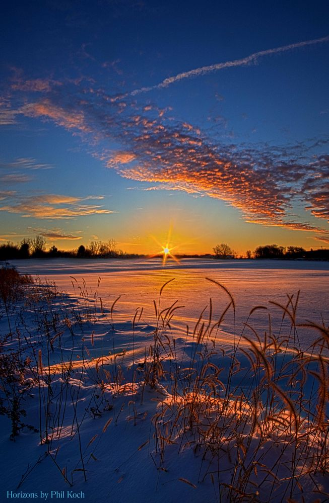 Photo in Landscape #snow #winter #sunrise #sunset #sky #clouds #landscape #wisconsin #horizons phil koch #cold