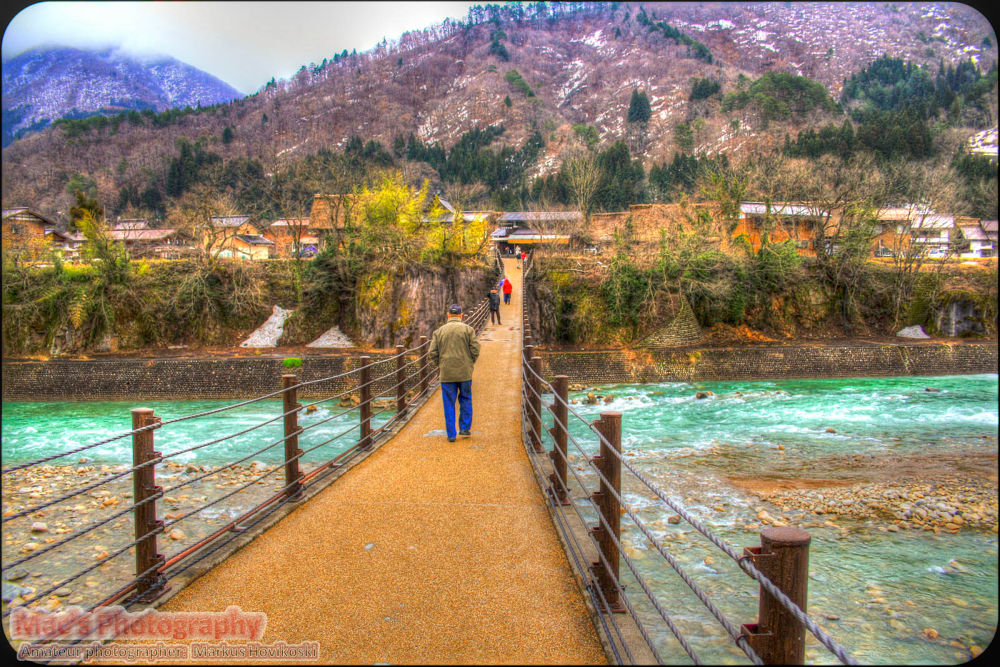 Bridge in Shirakawa-Go to Gassho willage by Mac's Photography