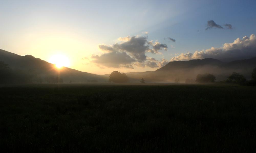 Photo in Random #cadescove #greatsmokymountains #tennessee #sunrise #may #spring #spring2014