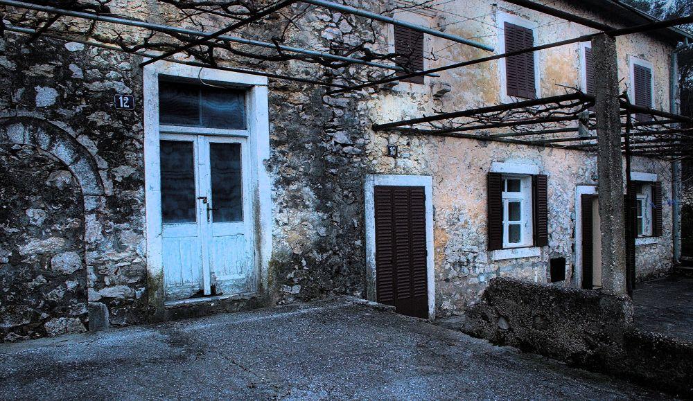 ...stone houses... by Milos Jacimovic