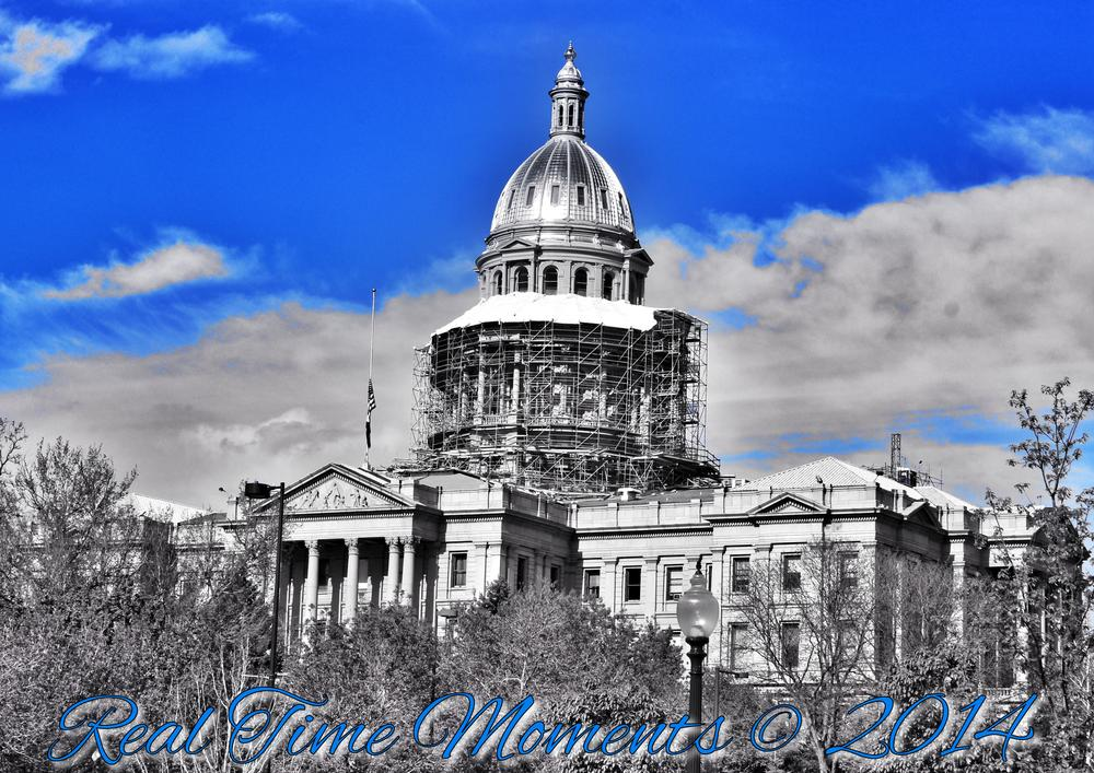 Photo in Cityscape #denver #dtown #state capital #blue #building #construction