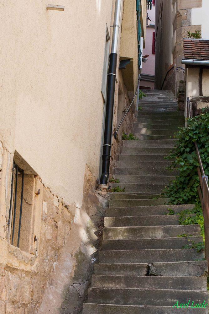 Stairs in the old city of Tübingen by Axel La
