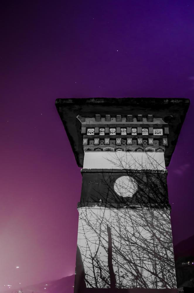 Photo in Architecture #kuenzang zhenphen #zhenphen #night #bhutan #thimphu #chorton