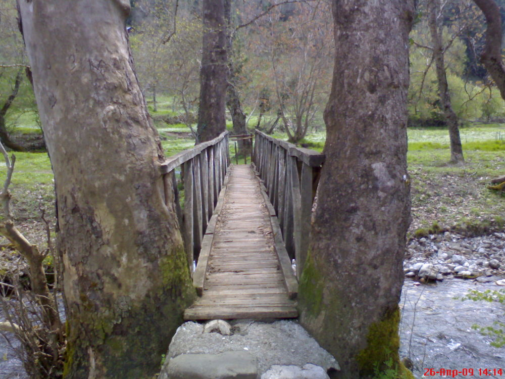 Old wooden bridge in Kefalovriso - Greece Karpenisi Evrytanias (by Delis) by Delis