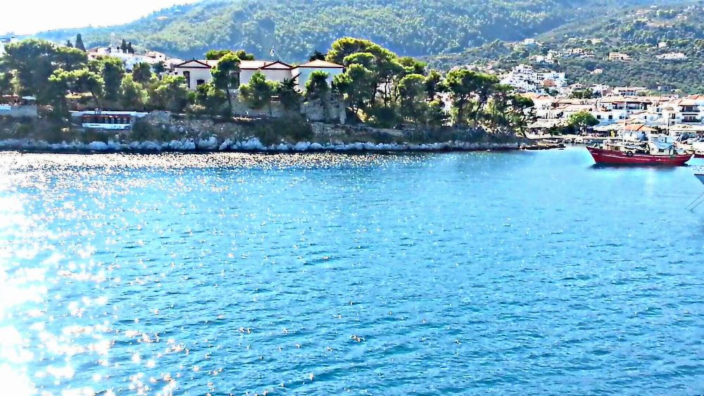 old port skiathos island by panos.T