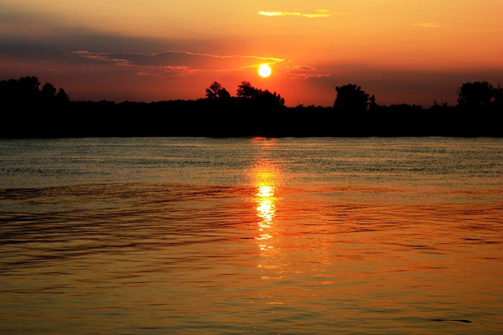 Дунав златни - Sunset on the Danube by Rastko Bravo