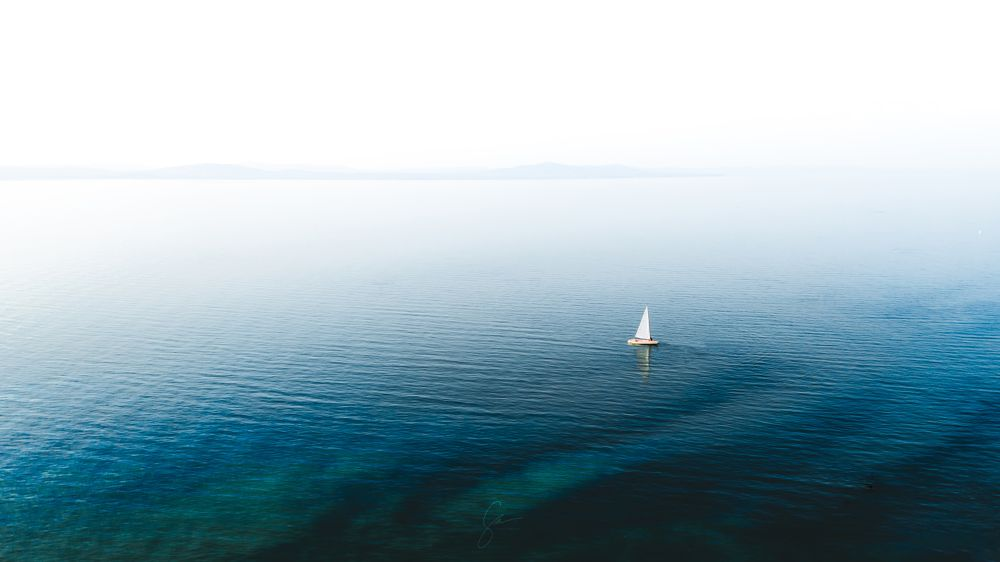 White sailboat