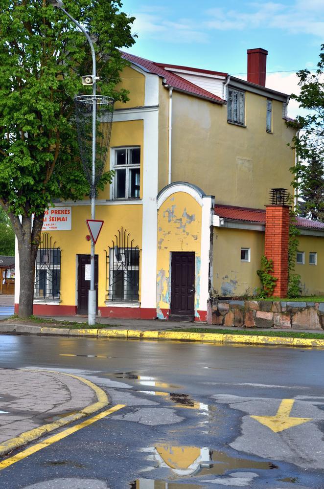 Yellow house by Zenonas Meškauskas