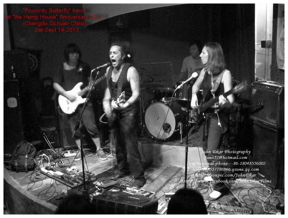 """Proximity Butterfly"" band at the Hemp House bar Anni-2013 by JohnDkar"