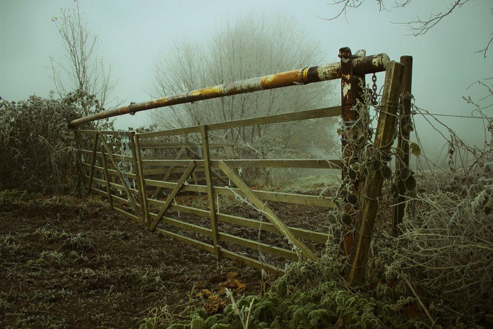 frosty gate by John Palmer