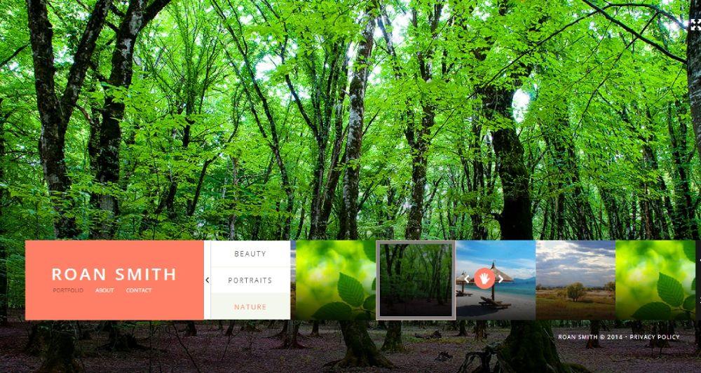 Photographer Portfolio - http://trobaz.com/designs/website-templates-type/48153.html by TroBaz Web Design